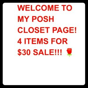 Other - ⭐4 ITEMS FOR $30 SALE!!!🌹